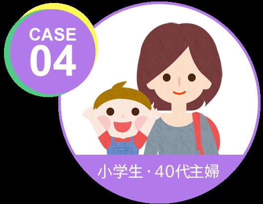 case04 小学生・40代主婦