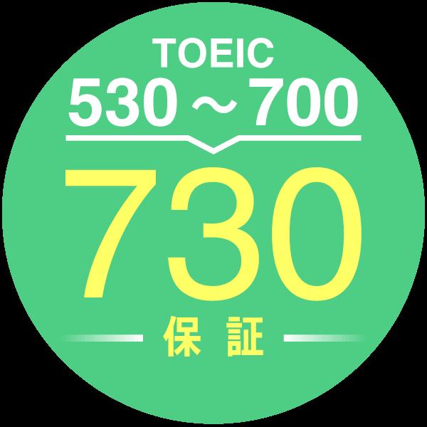 TOEIC730点 点数保証