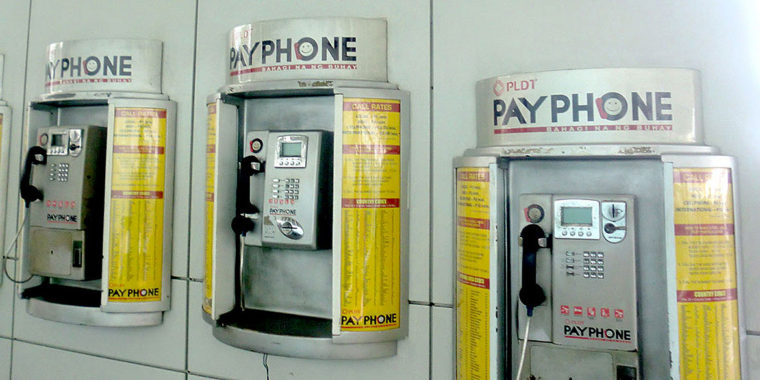 フィリピン 公衆電話 かけ方